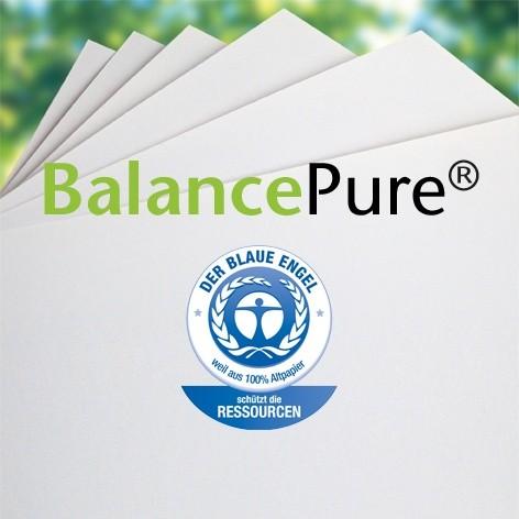 BalancePure BA, 120 g/m², DIN A4, Breitbahn, sehr weiß, Recycling, Blauer Engel, 250 Blatt