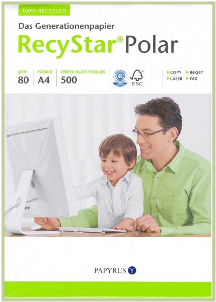 RecyStar Polar 80 g/m² DIN A4 sehr weiß Recycling Blauer Engel 500 Blatt
