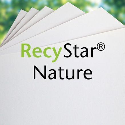 RecyStar Nature 135 g/m² DIN A4 naturweiß Blauer Engel Recycling 250 Blatt